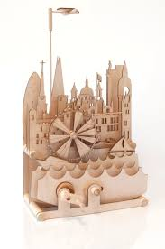 London Cityscape Wooden Automaton