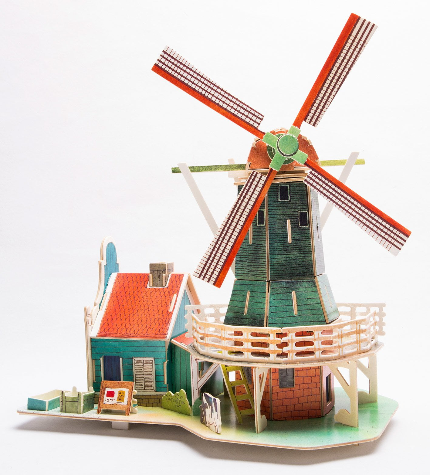 Dutch Windmill 3d Wooden Puzzle House