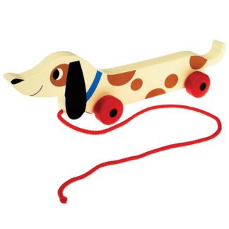 Whirligig Toys - Wooden Pullalong Dog1