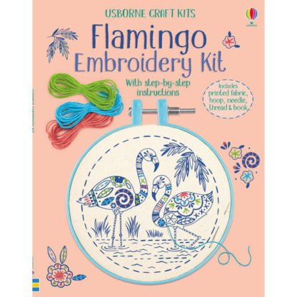 Whirligig Toys - Embroidery Flamingo1