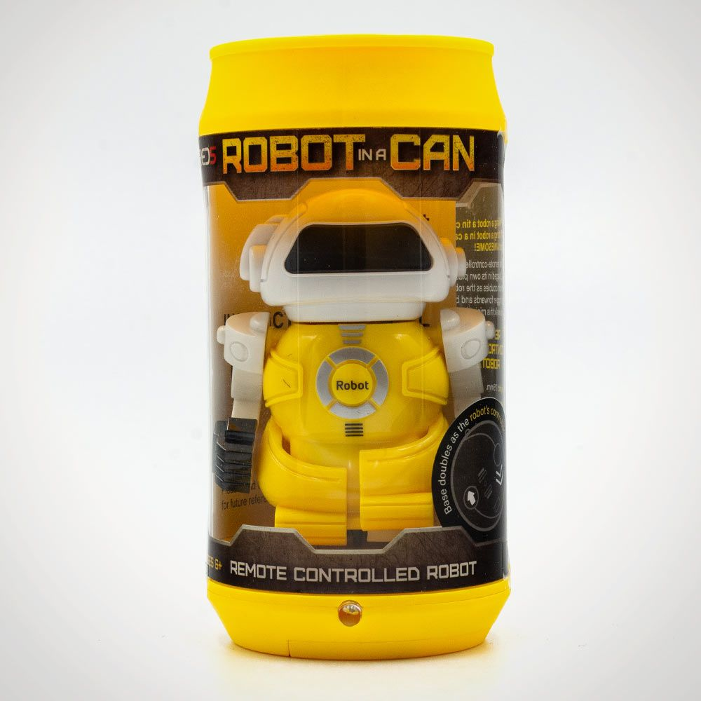 Whirligig Toys - Robot In A Can Yellow