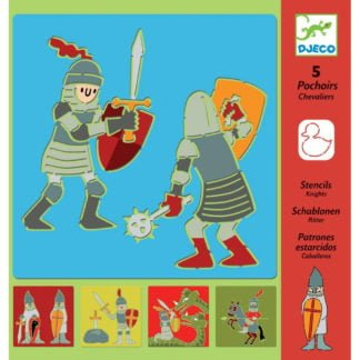 Whirligig Toys - Djeco Stencils Knights1Whirligig Toys - Djeco Stencils Knights1