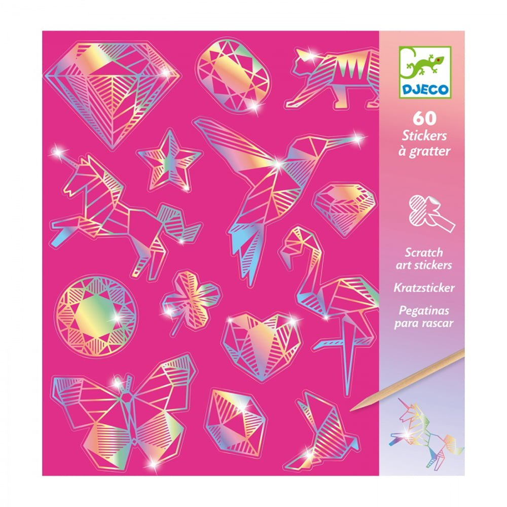 Whirligig Toys - Scratctart Diamond Stickers1