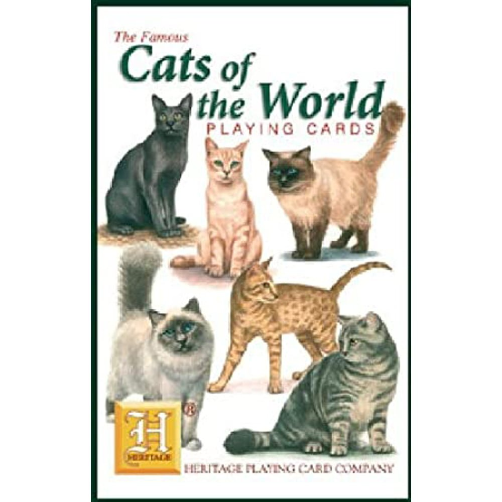 Whirligig Toys - Cats Of The World Playing Cards1