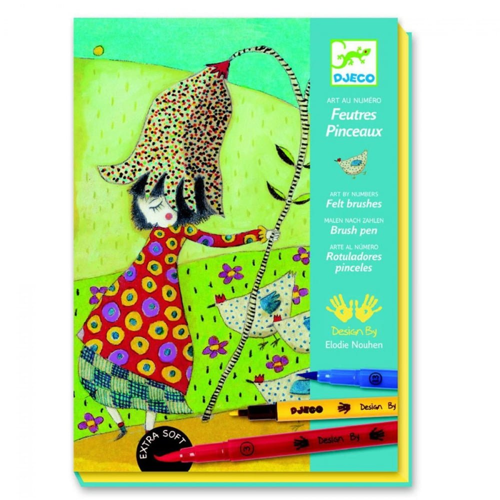 Whirligig Toys - Colour By Numbers With Flowers1