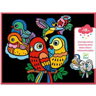 Whirligig Toys - Velvet Colouring Birds1