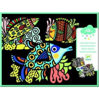 Whirligig Toys - Velvet Colouring Fish1