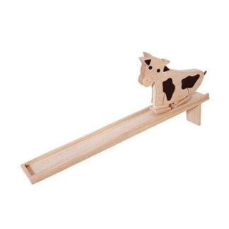 Whirligig Toys - Cow Wooden Ramp Toy1