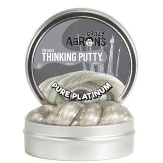 Whirligig Toys - Crazy Aaron's Thinking Putty Pure Platinum1