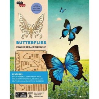 Whirligig Toys - Wooden Butterfly Model1