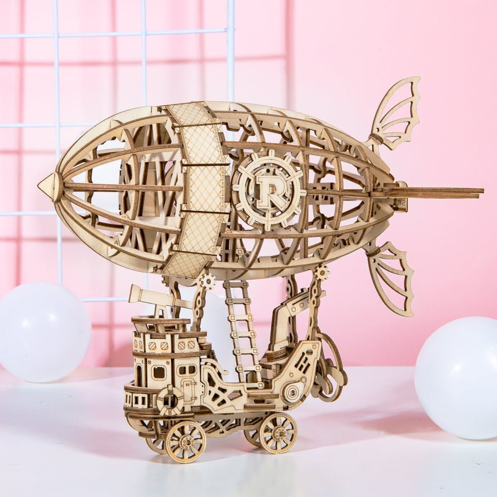 Whirligig Toys - Wooden Airship Model1
