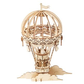 Whirligig Toys - Wooden Hot Air Balloon Model1