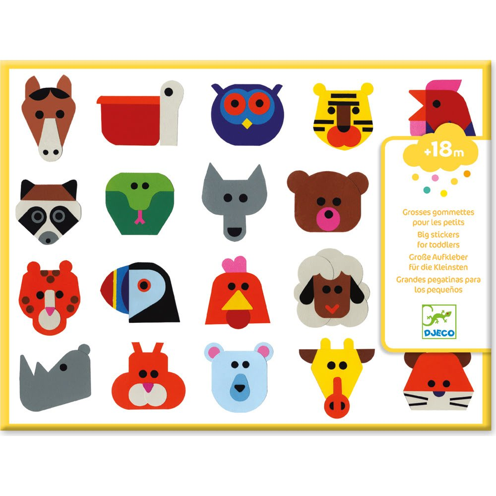 Whirligig Toys - Animal Face Stickers1