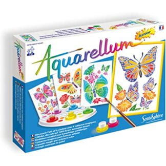 Whirligig Toys - Butterflies Wax Painting1