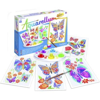 Whirligig Toys - Butterflies Wax Painting2