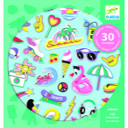 Whirligig Toys - California Puffy Stickers1