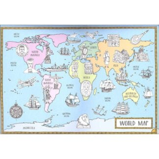 Whirligig Toys - History Map Colouring Book3