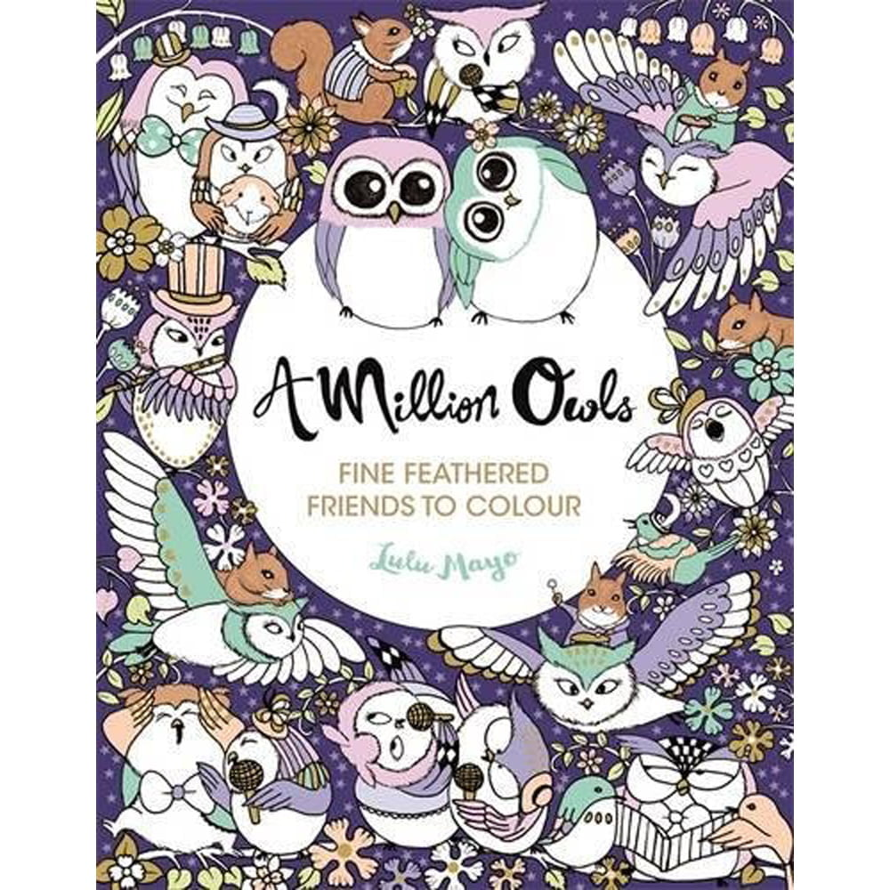 Whirligig Toys - Million Owls Colouring Book1