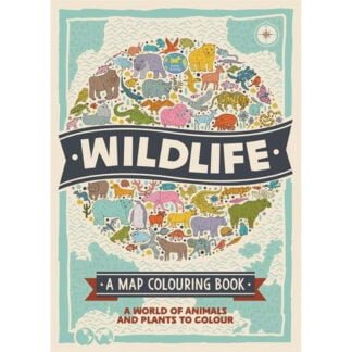 Whirligig Toys - Wildlife Map Colouring Book1