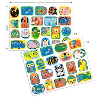 Whirligig Toys - Animal Shaped Stickers2