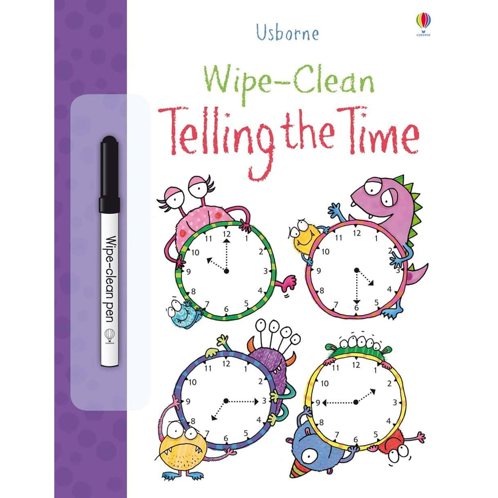 Whirligig Toys - Wipe Clean Telling The Time1