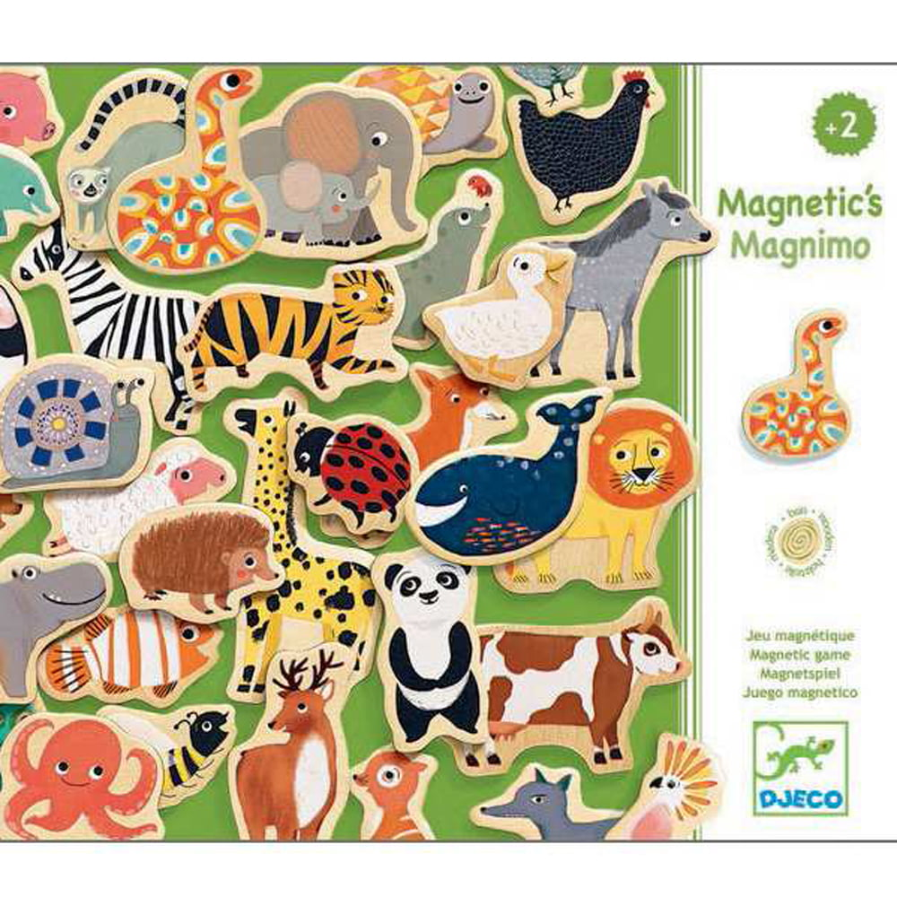 Whirligig Toys - Wooden Zoo Magnets1