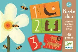 Matching Number Puzzles - Djeco